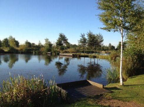 One of the lovely lakes at GHOF's Centre at Northolt in London.
